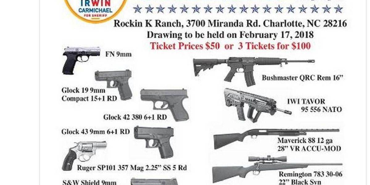 mecklenburg sheriff cancels his gun raffle fundraiser after florida school shootings