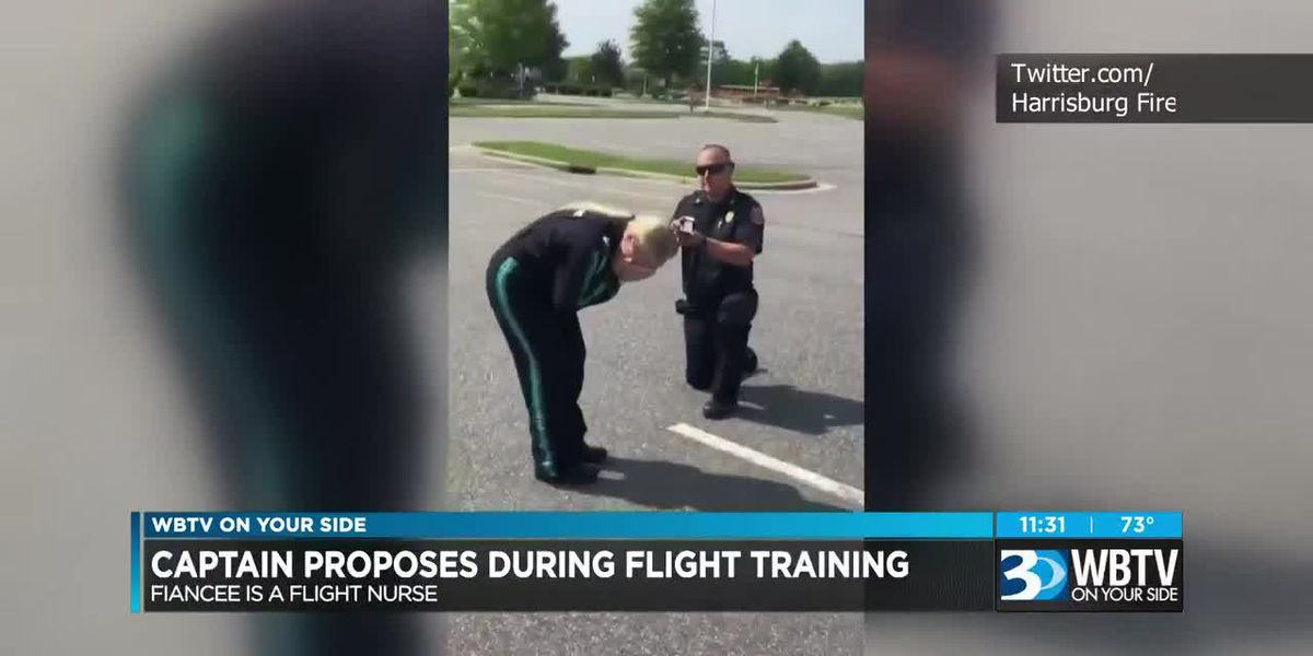Fire Captain proposes to longtime girlfriend during flight training in Harrisburg