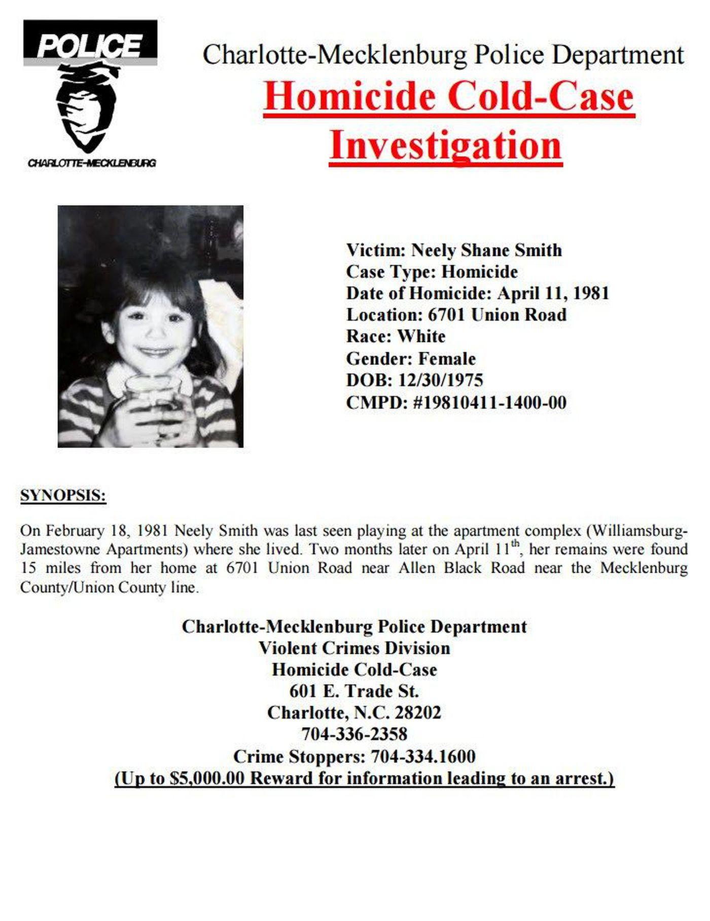 Child killer's DNA could help solve 1981 cold case