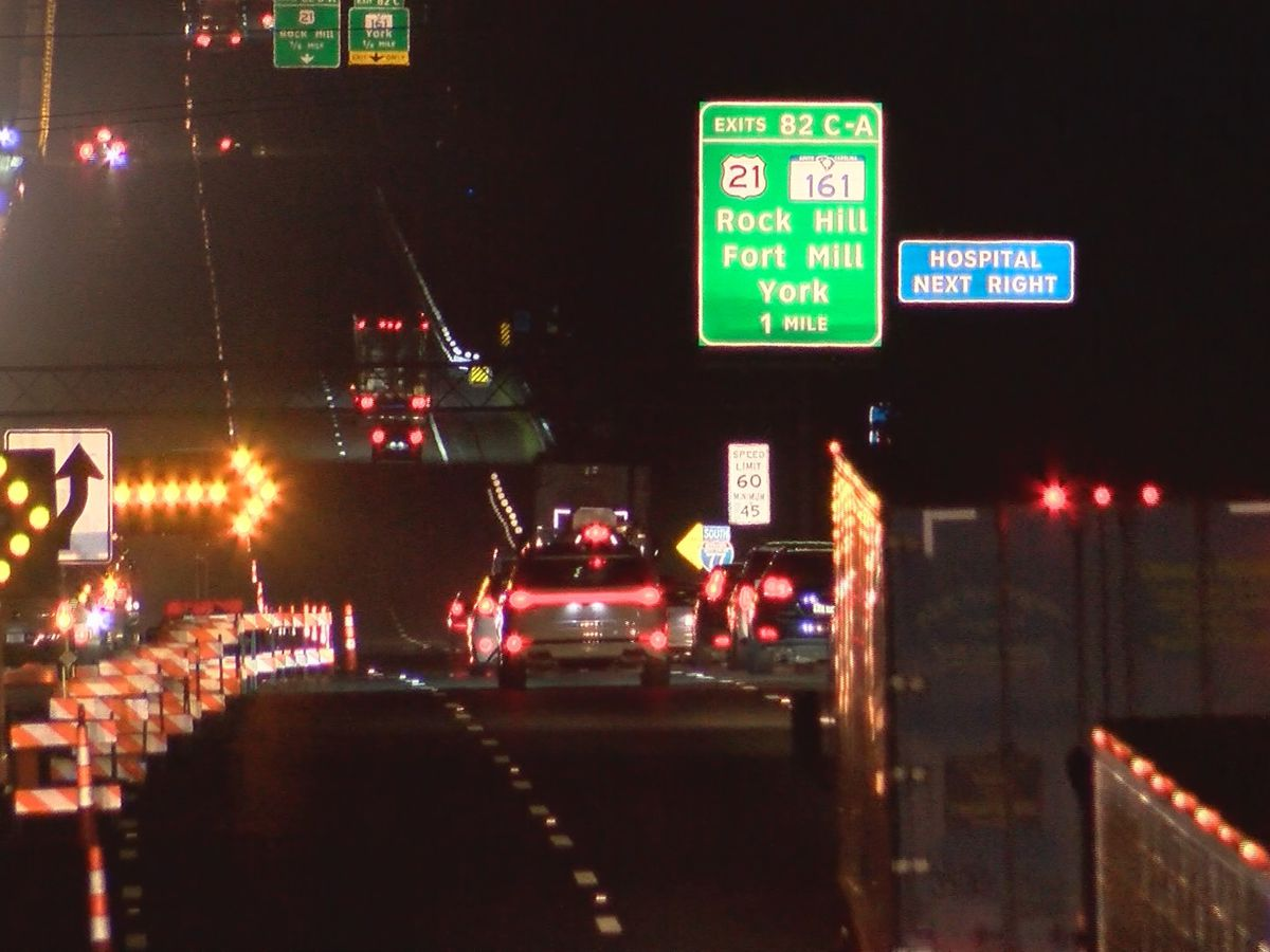 People react to traffic backed up for miles because of the I-77 Catawba River Bridge project