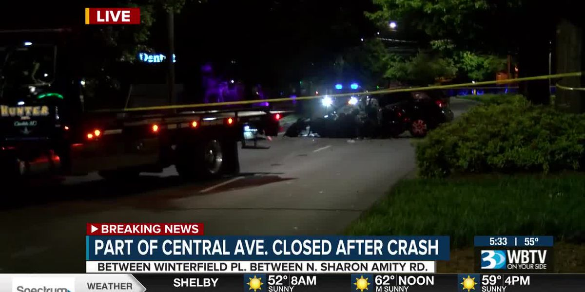 Crash closes part of Central Avenue