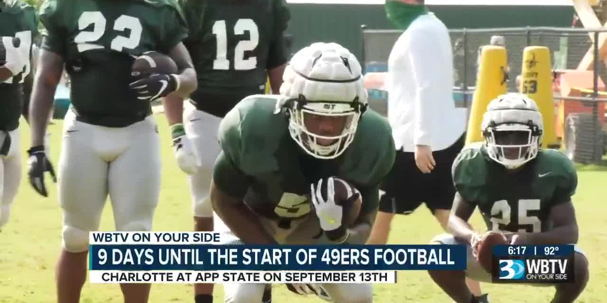 9 days until kickoff for the Charlotte 49ers