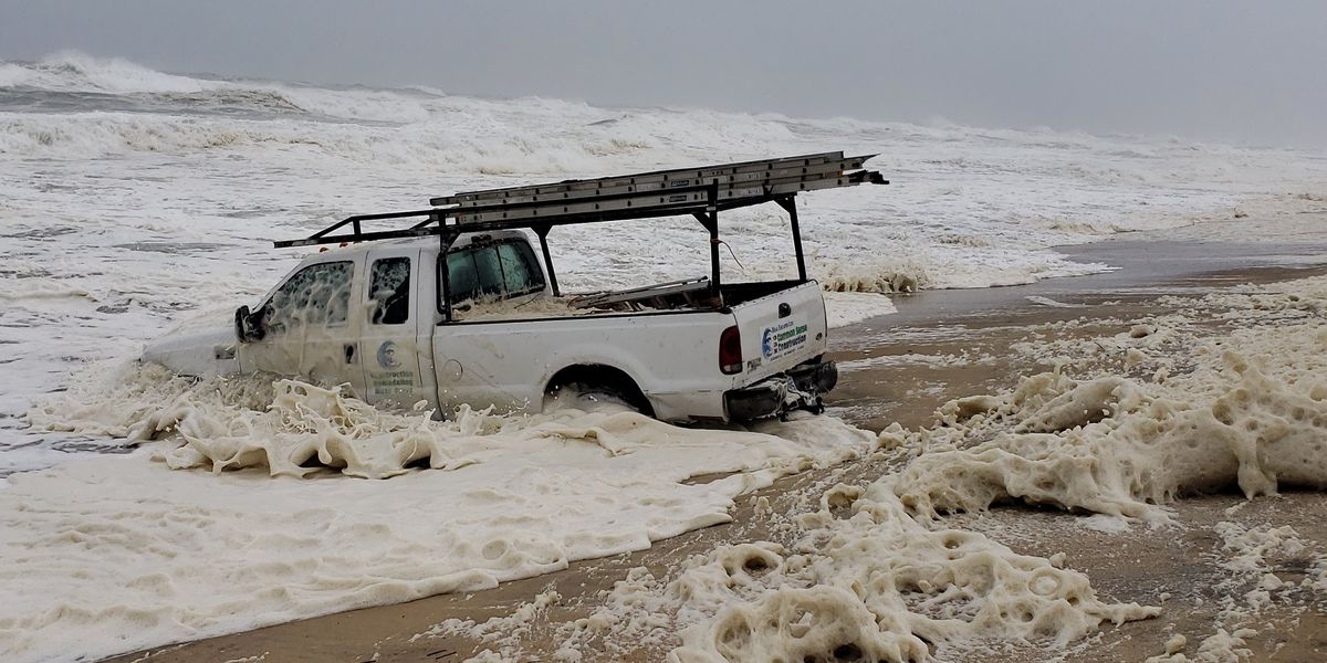With Dorian winds still raging, 'impaired' man drives truck into ocean, NC police say