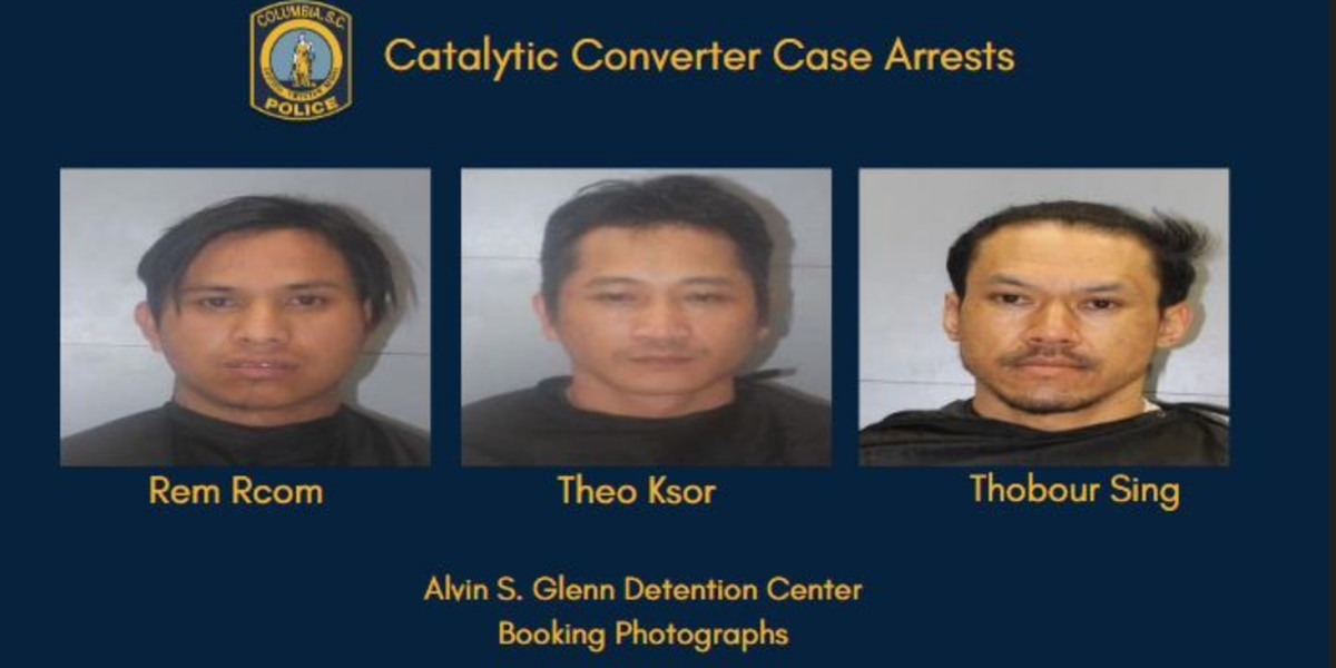 3 North Carolina men arrested after attempted to steal catalytic converter in Columbia