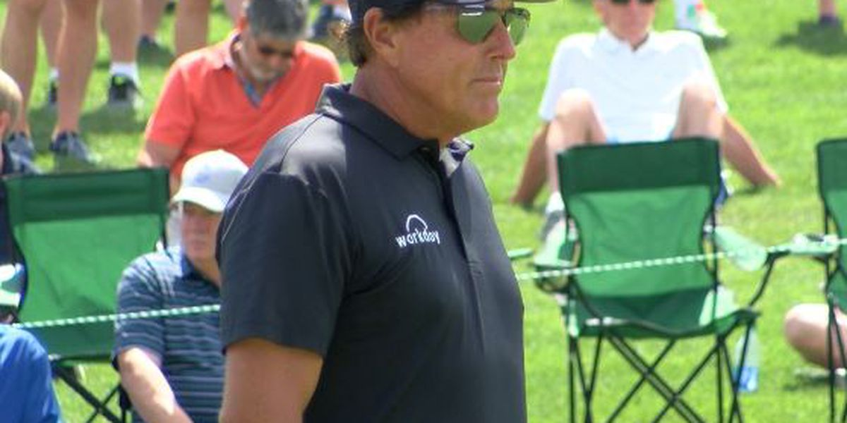 Blast from past as Mickelson opens with 64 at Quail Hollow