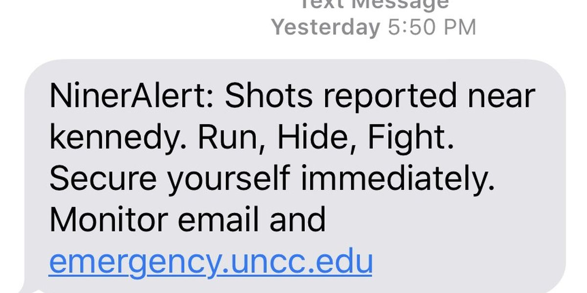 UNC Charlotte Niner Alerts keeping students updated during crisis