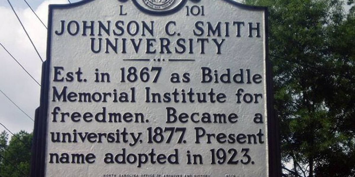 State historical marker for Johnson C. Smith University goes missing