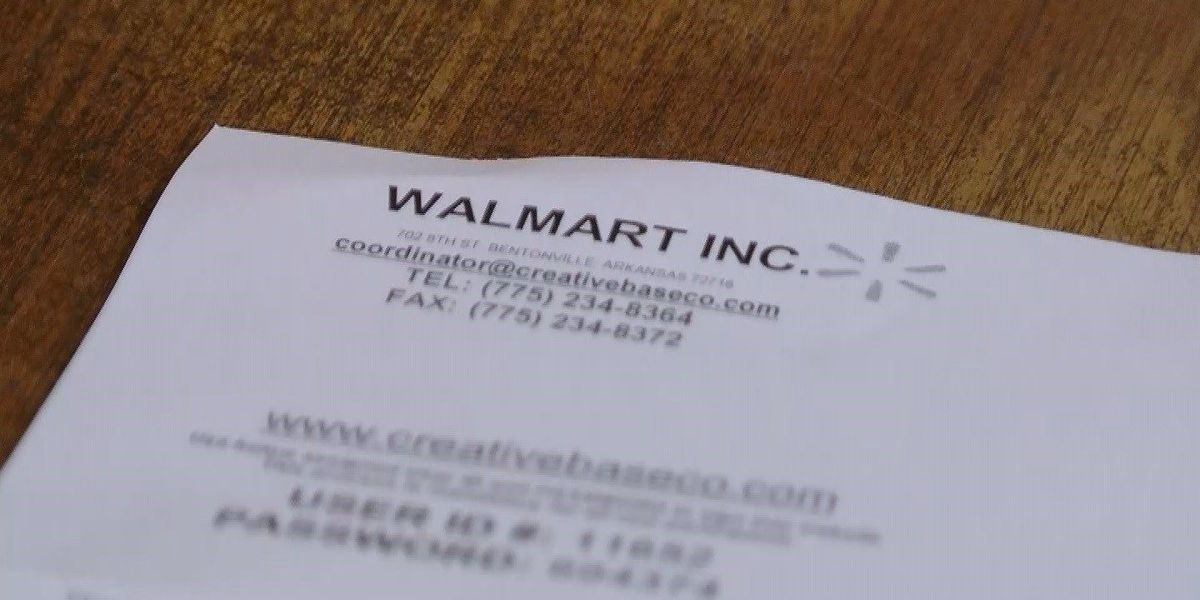 Walmart scam arriving in local mailboxes