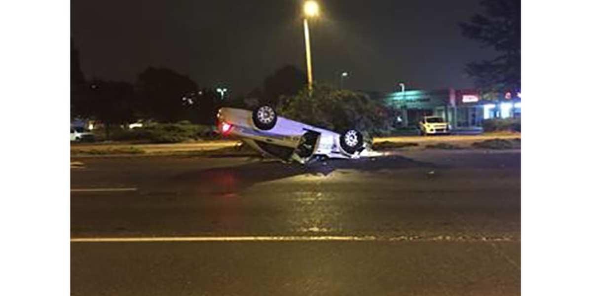 CMPD officer injured in rollover wreck on duty
