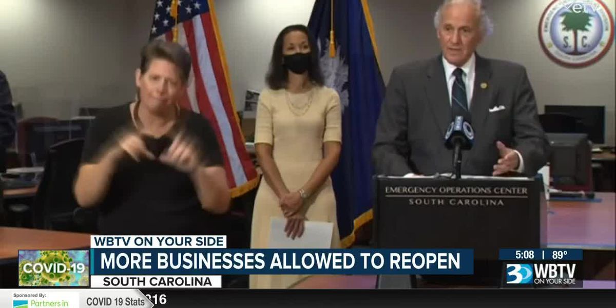 More S.C. businesses allowed to reopen