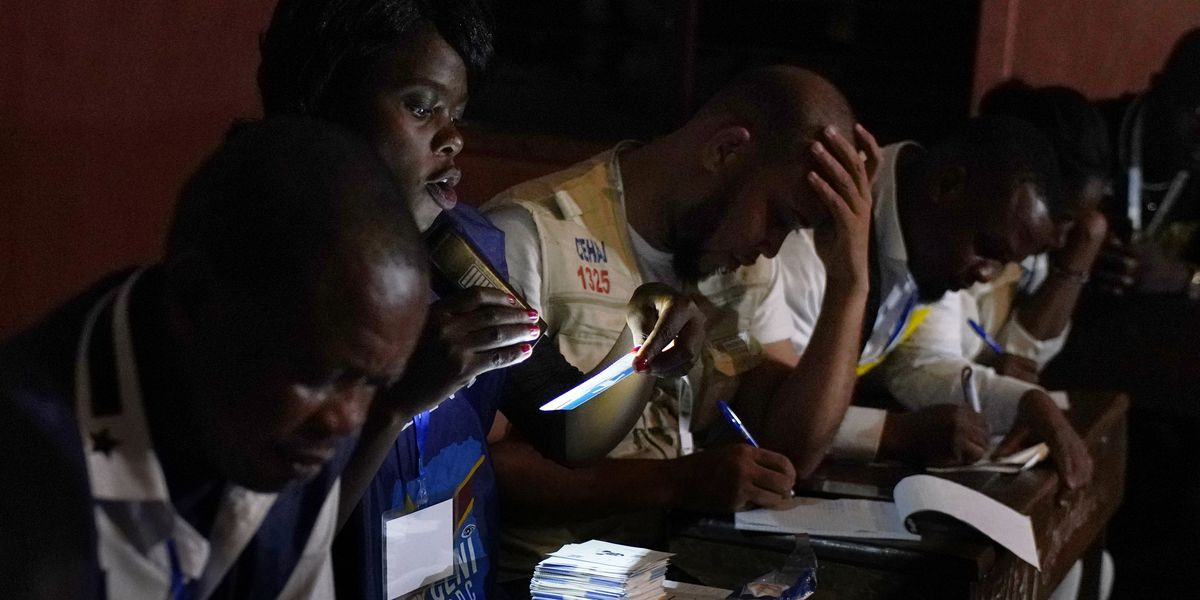 Vote counting begins in Congo, after polling beset by delays