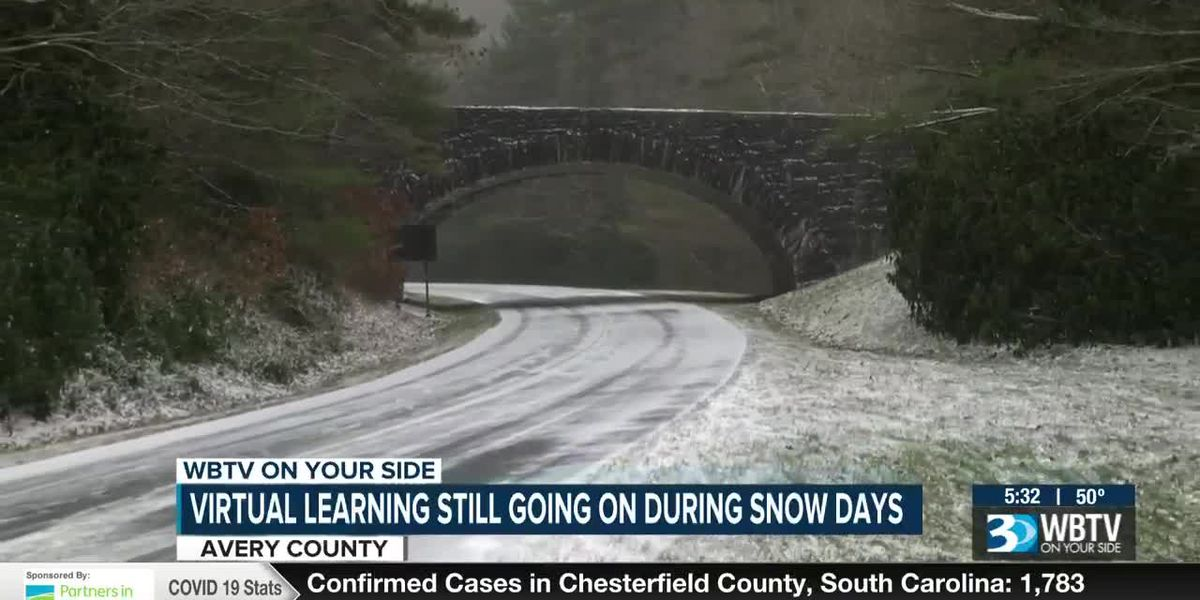 Snow Days are now School Days in Avery county thanks to virtual learning