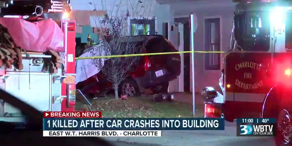1 killed after car crashes into building