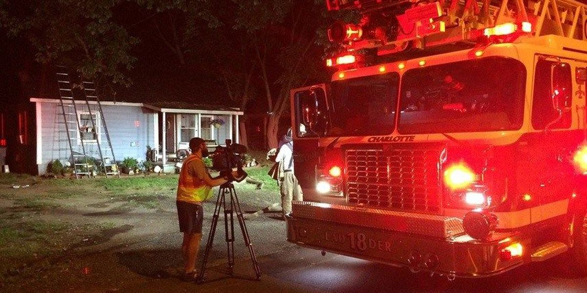 Fire destroys north Charlotte home, no one hurt