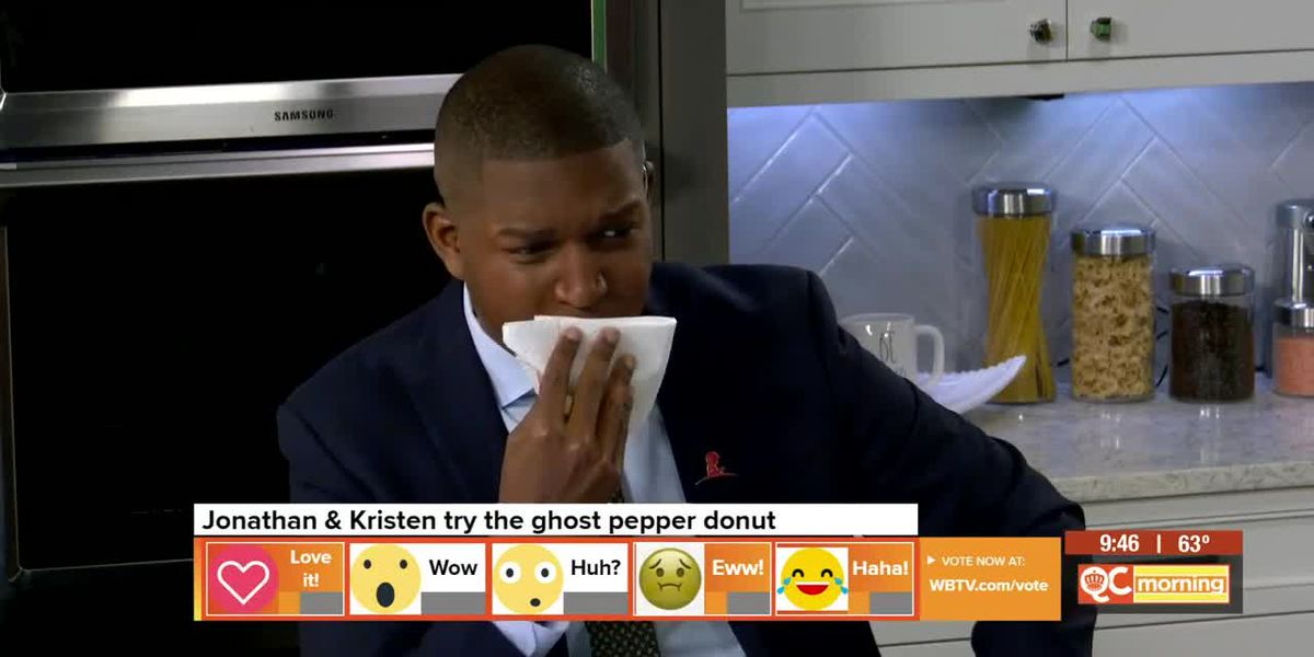 Jonathan And Kristen Try The New Ghost Pepper Donut
