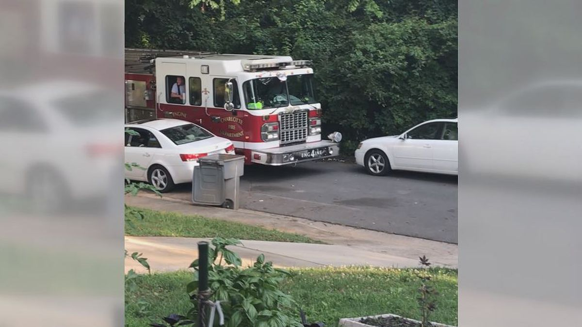 Charlotte residents concerned emergency vehicles can't get through cars parked on the road