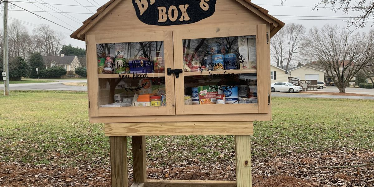 """""""Take what you need, leave what you can:"""" Blessing Box is first of its kind in Cabarrus Co."""