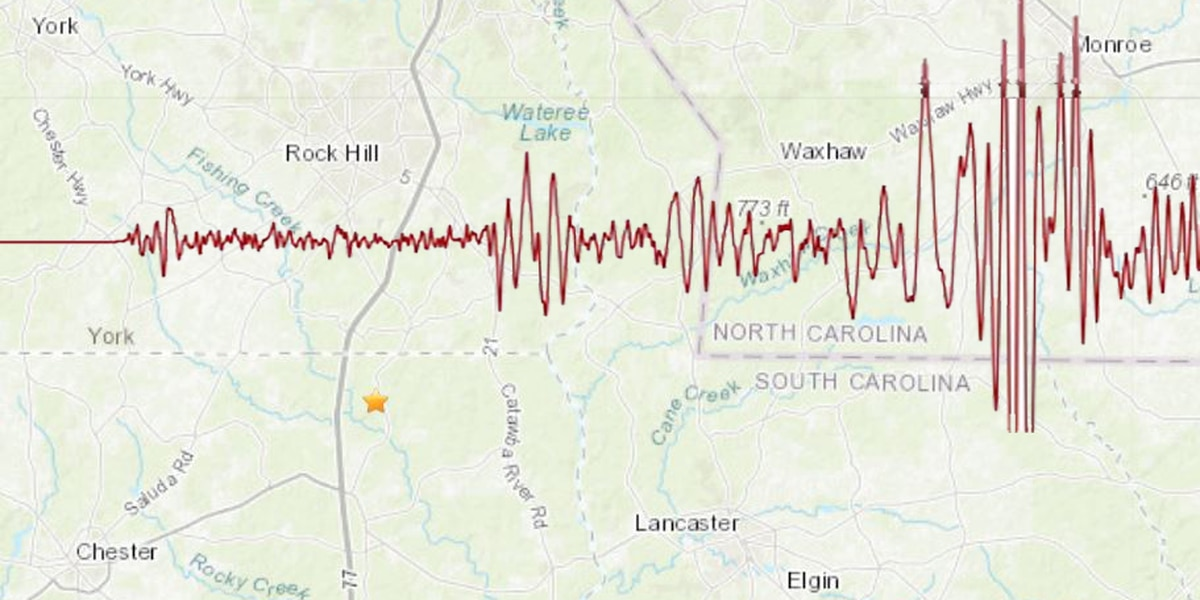 2.3-magnitude earthquake shakes York County, 5 miles from downtown Rock Hill