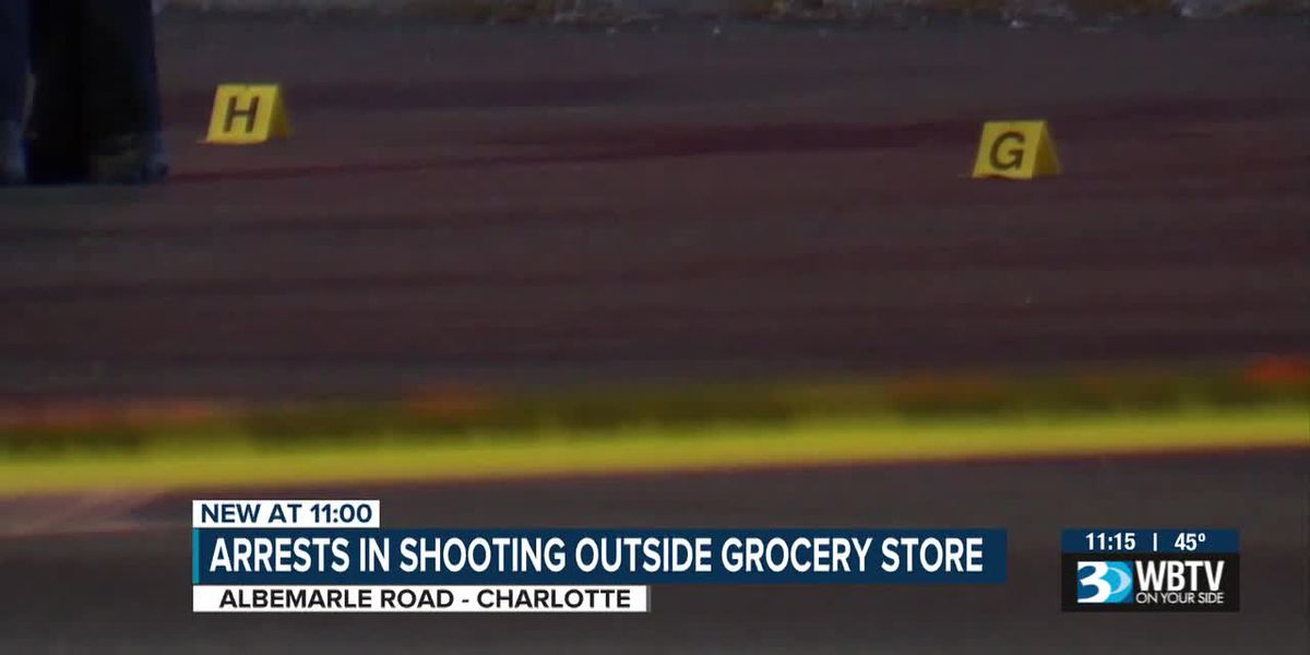 Arrests made in shooting outside Charlotte grocery store
