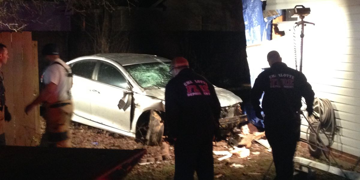 Car goes over yards, through fence, into house in north Charlotte, neighbors say it's not the first time
