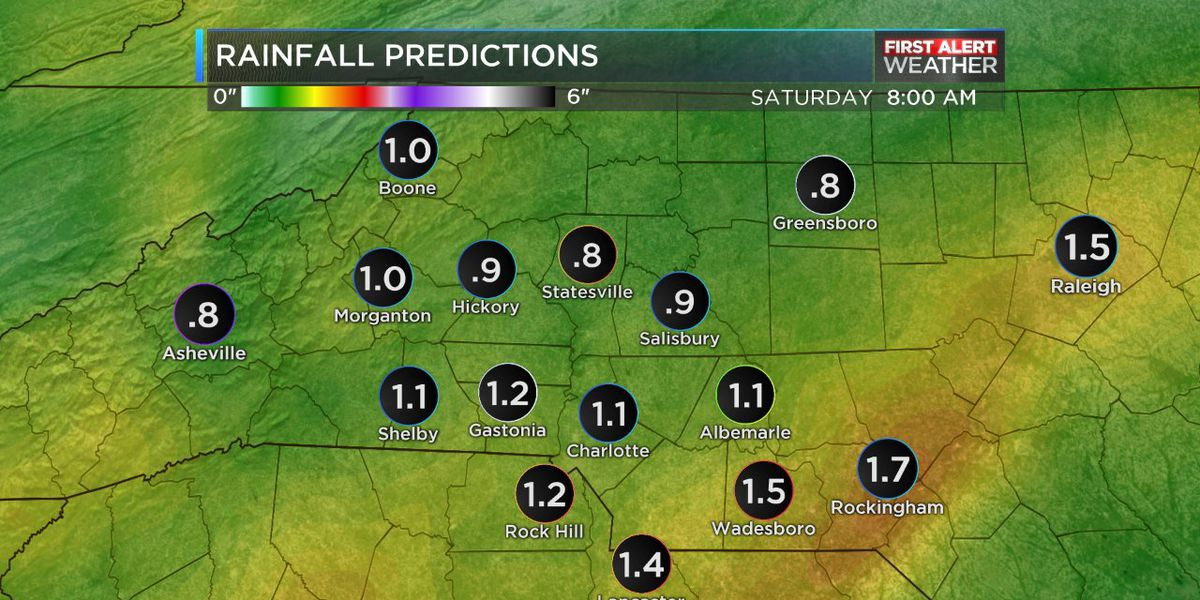 First Alert Day: Heavy rain expected throughout the day, possible isolated thunderstorms