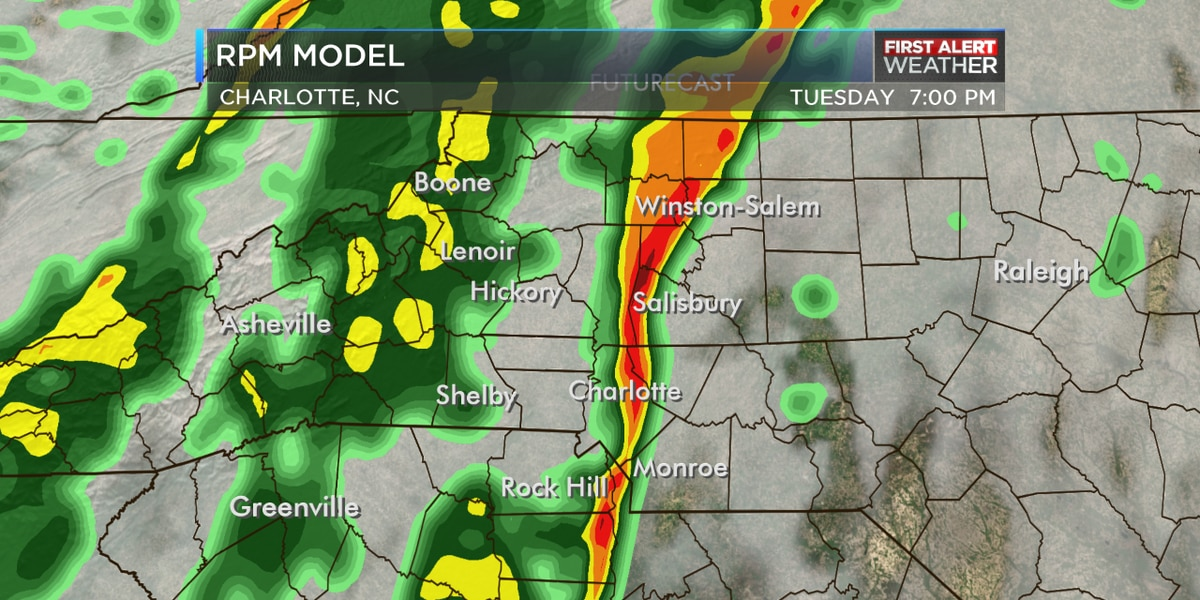 First Alert: Line of showers, gusty winds target peak commute times Tuesday