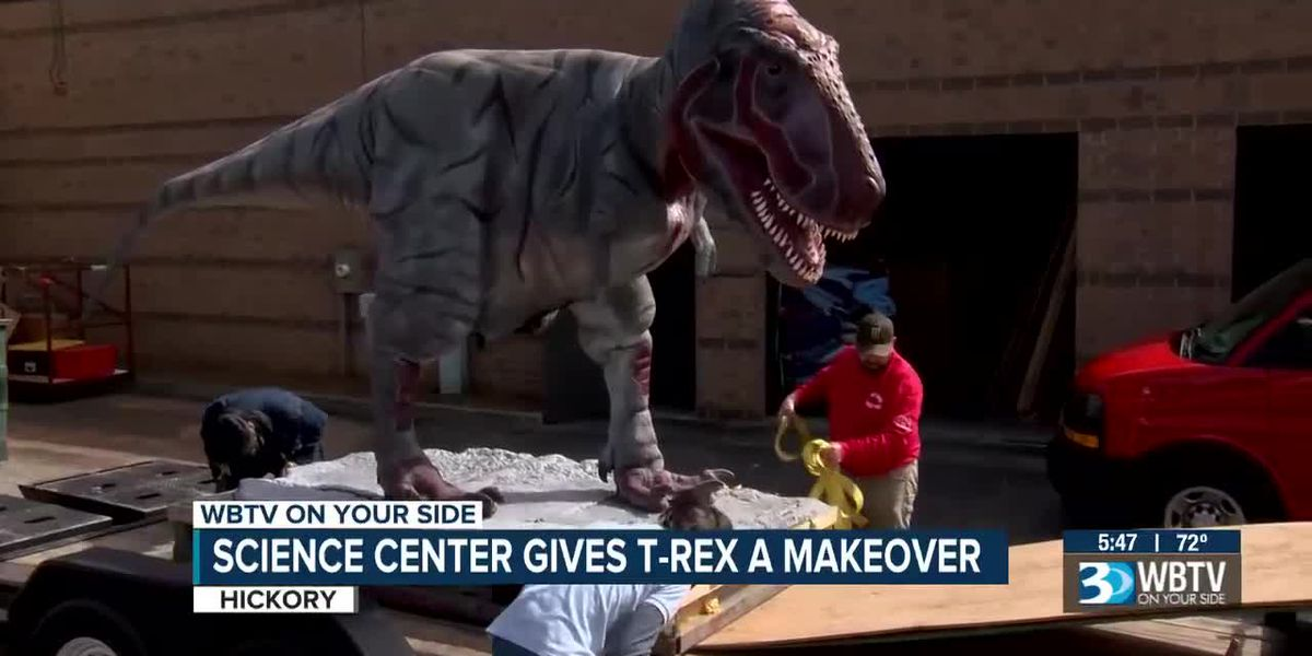 Catawba Science Center T-Rex takes a journey for repairs