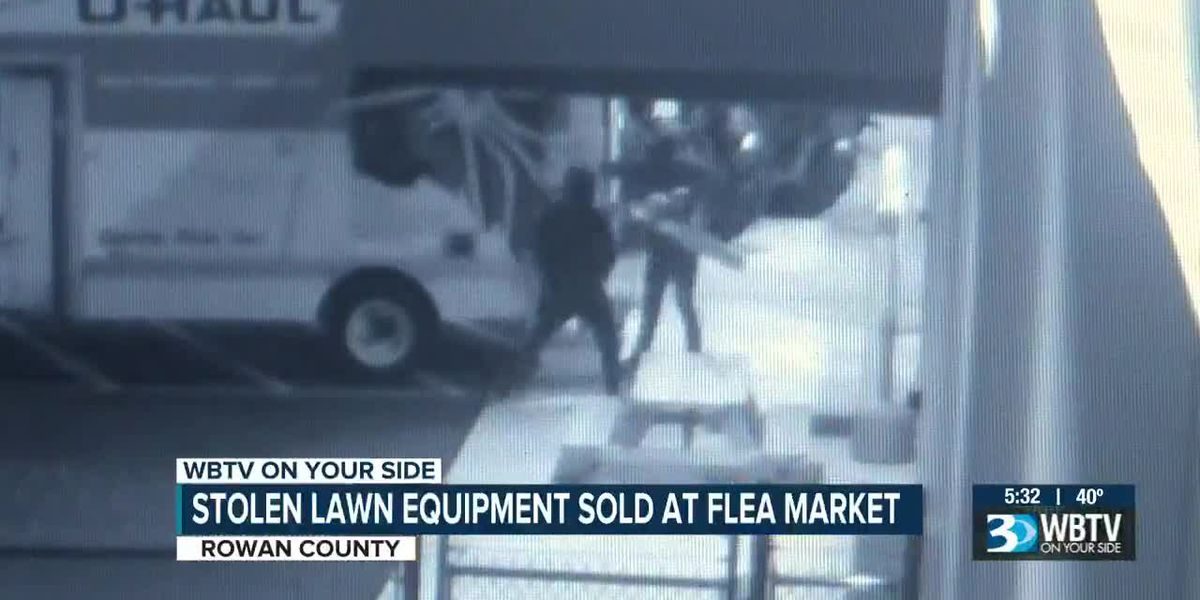 1 charged after power equipment stolen from Mooresville, Charlotte found being sold at Rowan Co. flea market