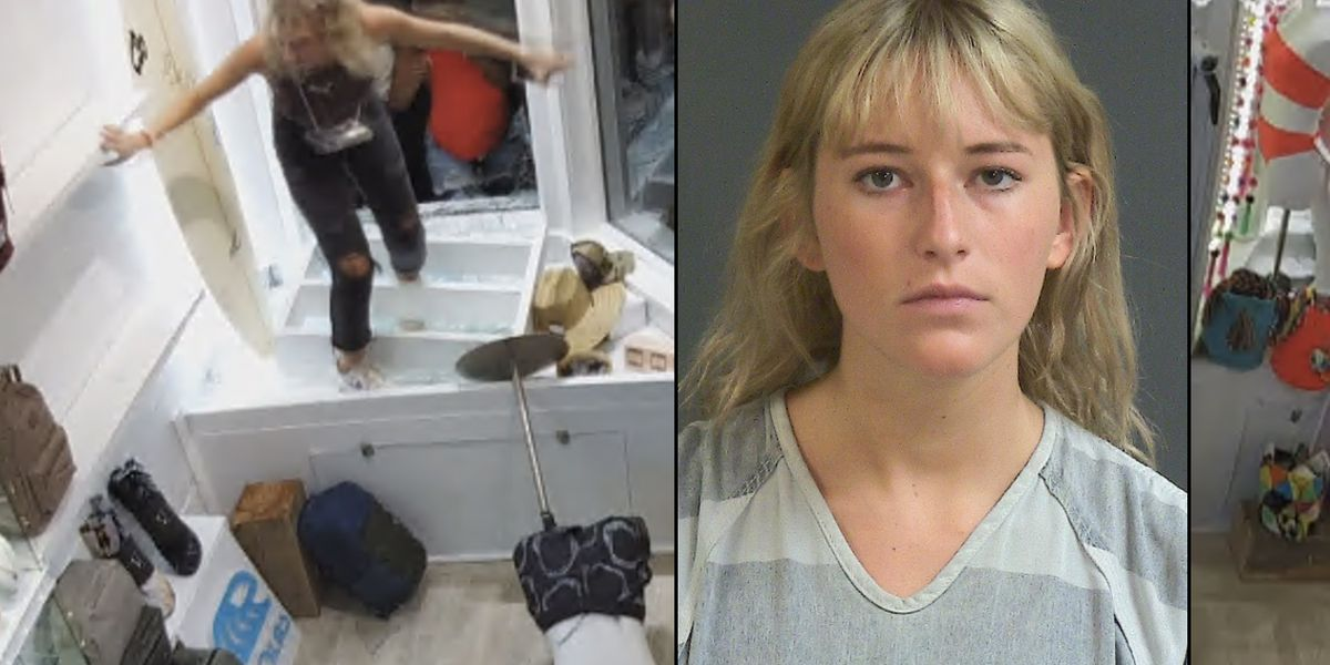 Police charge woman accused of stealing from businesses during Charleston riot