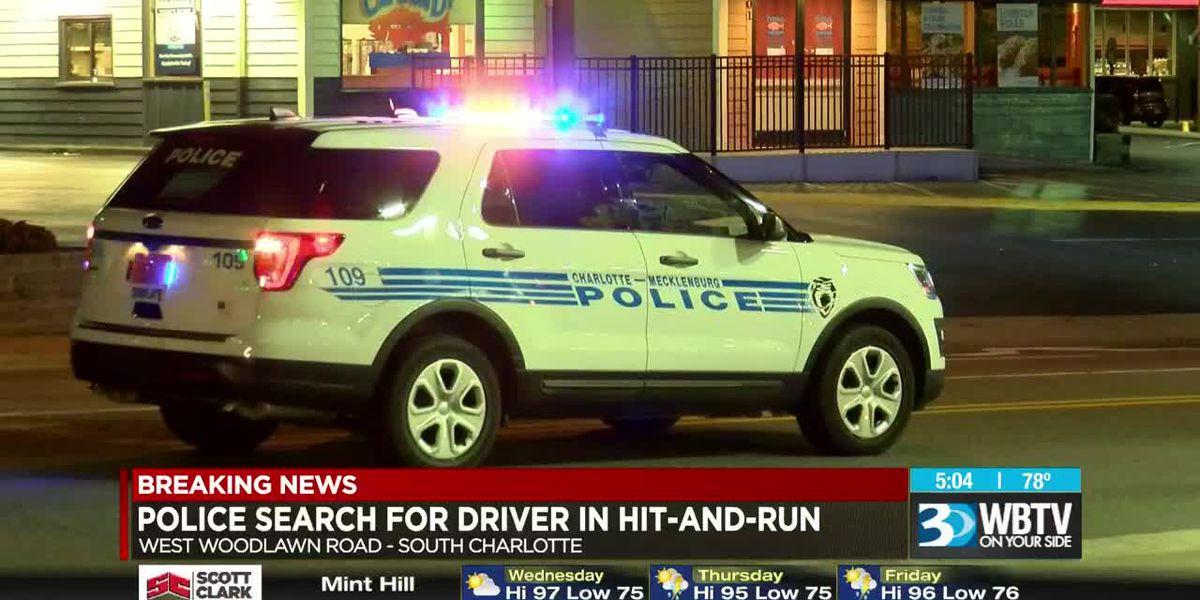 Pedestrian struck, seriously injured in Charlotte hit-and-run