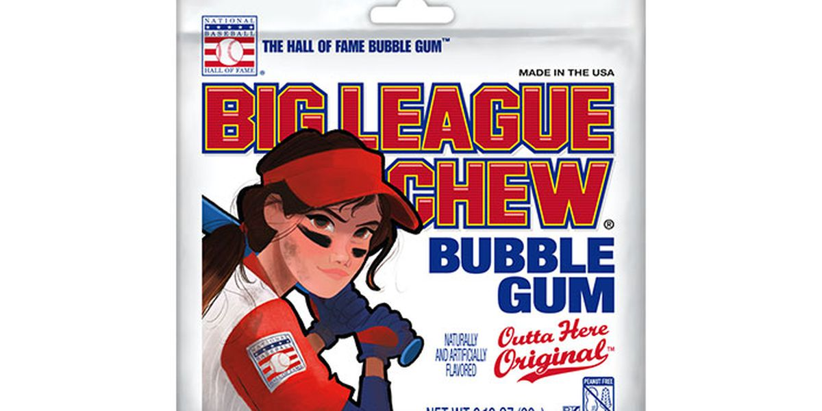 Big League Chew to feature female on pouch for first time