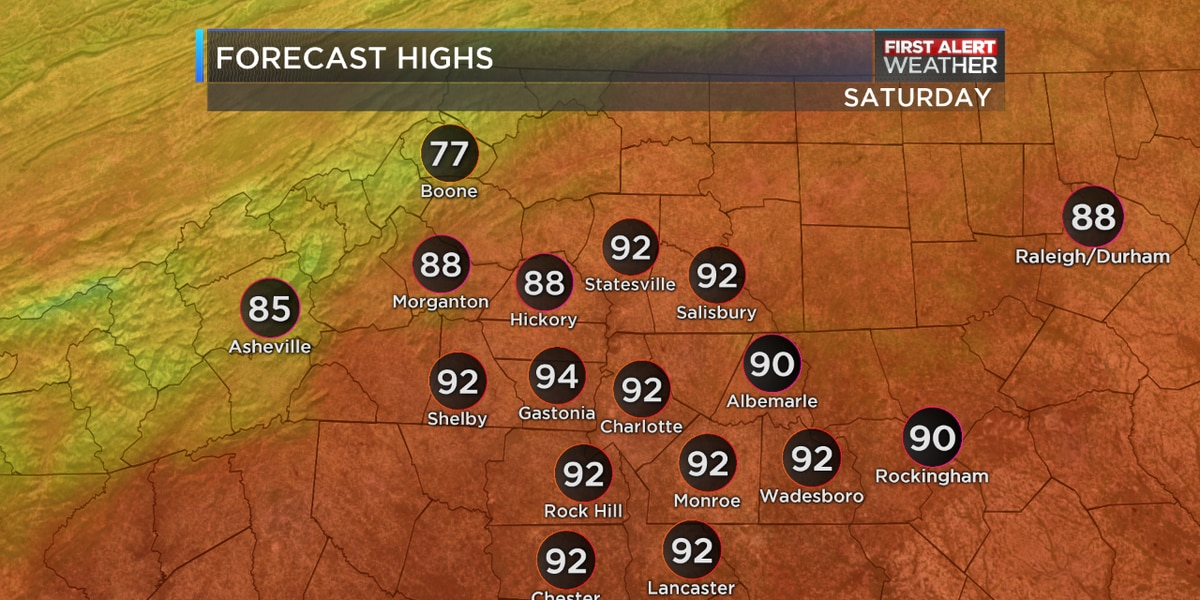 Late Summer Heat Sends Highs Into The Lower 90s This Weekend