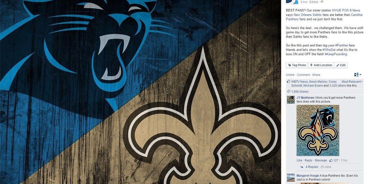 FAN BATTLE: Carolina Panthers vs New Orleans Saints
