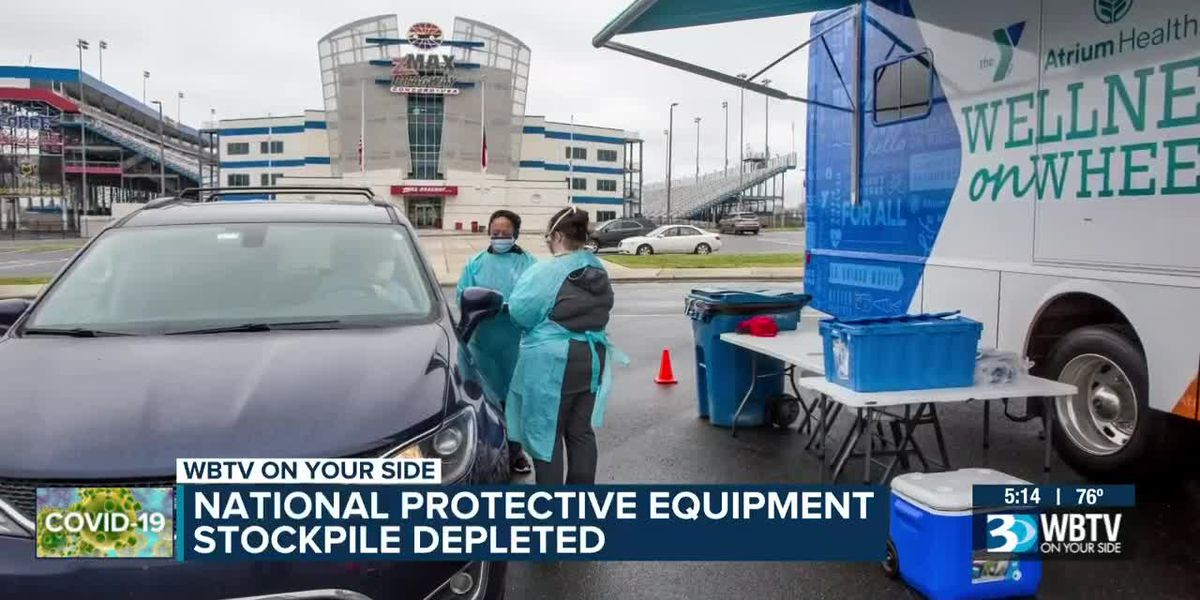 National protective equipment stockpile depleted