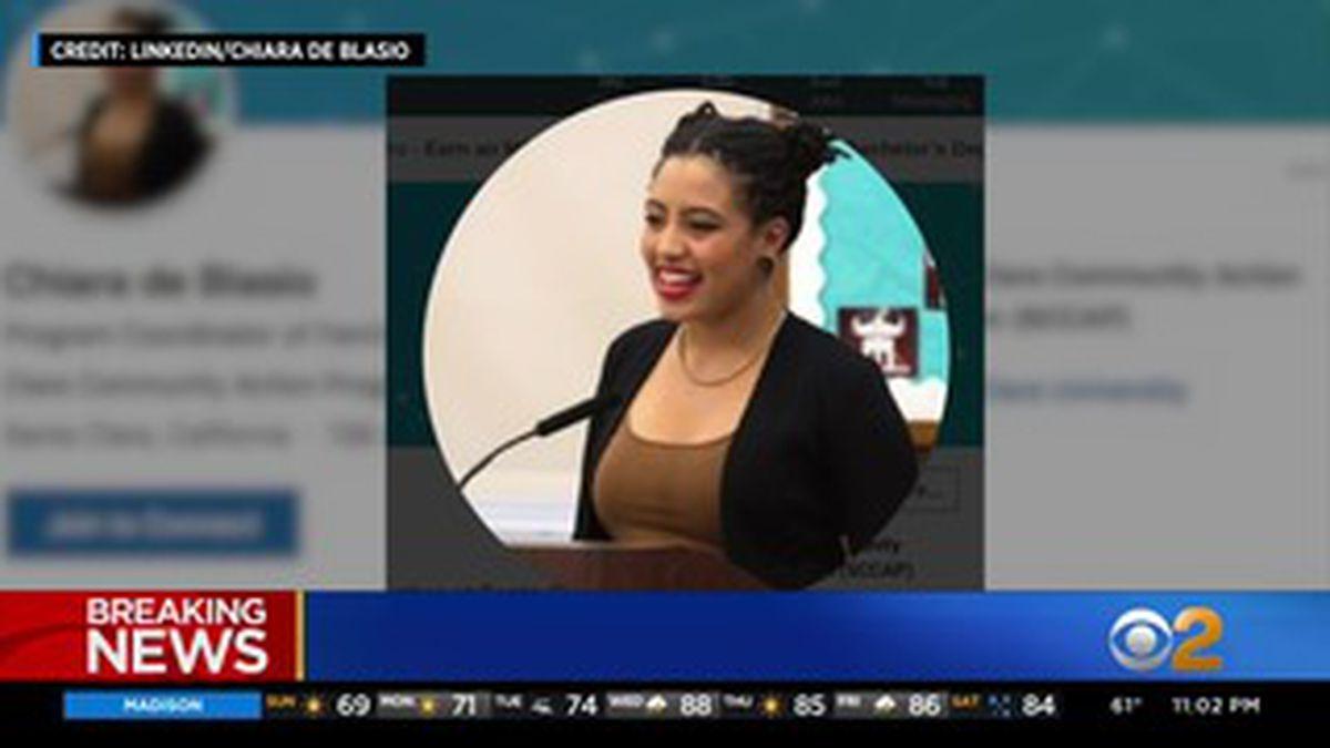 Bill de Blasio's daughter arrested while protesting in Manhattan
