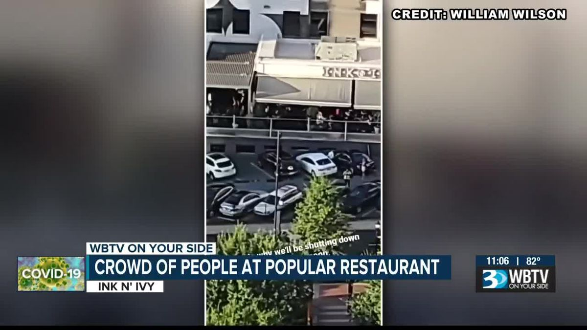 Video shows large crowd at popular Charlotte restaurant despite capacity guidelines