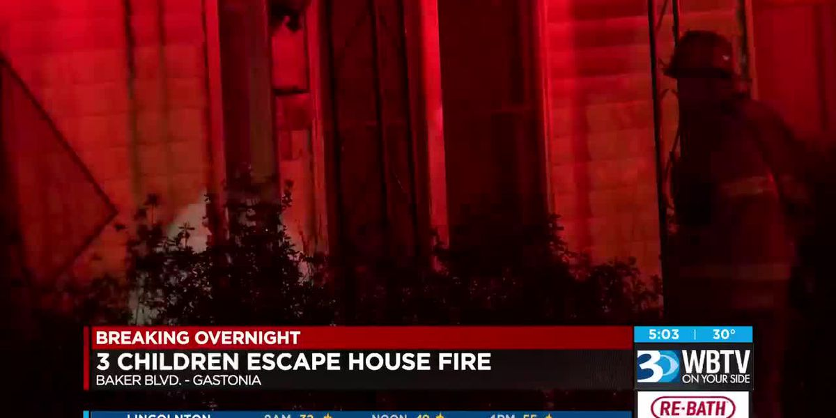 3 children escape house fire