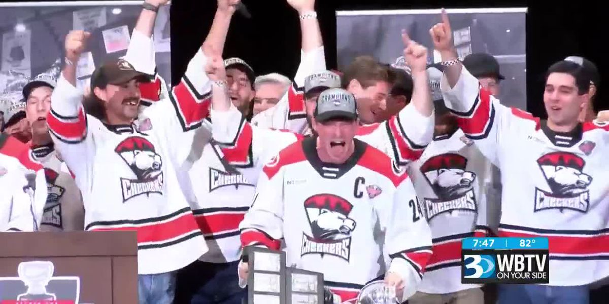 Charlotte Checkers celebrate Calder Cup victory