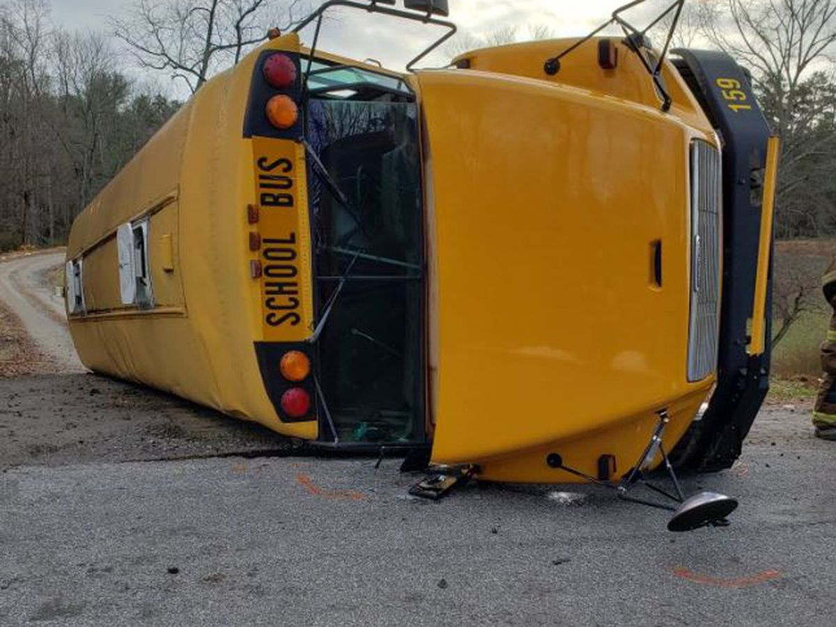 School bus rolls over, injures 13 students plus driver near West Alexander Middle School