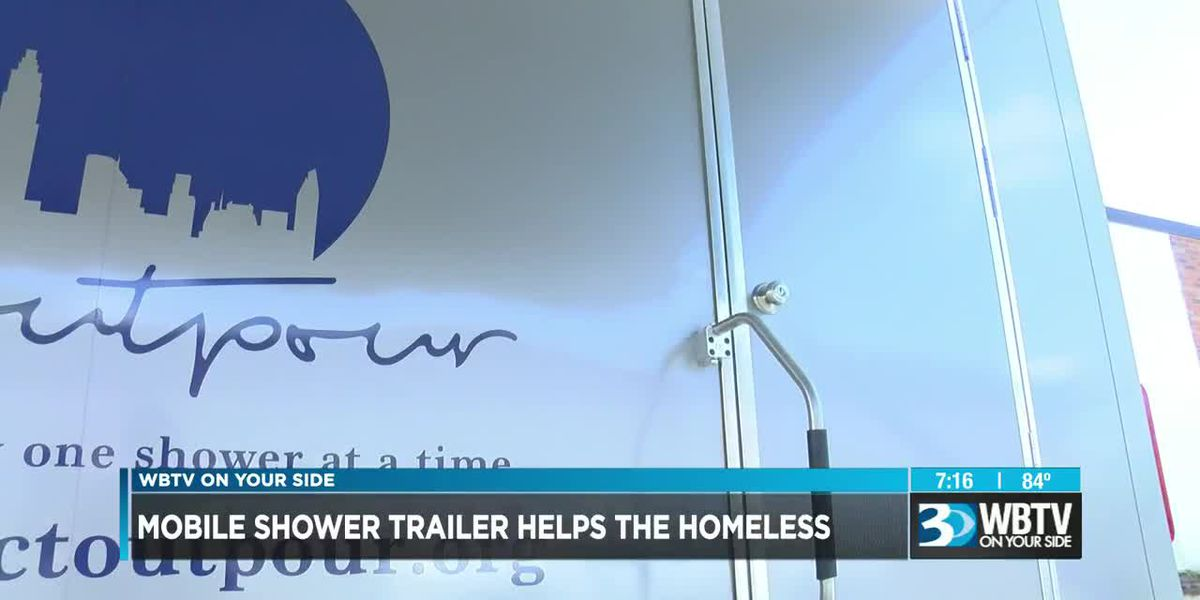 Charlotte homeless community introduced to new mobile shower trailer