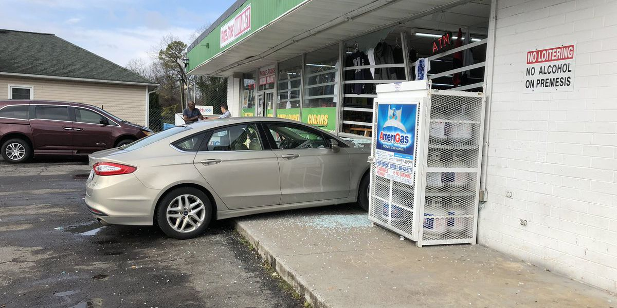 Vehicle crashes into Salisbury business