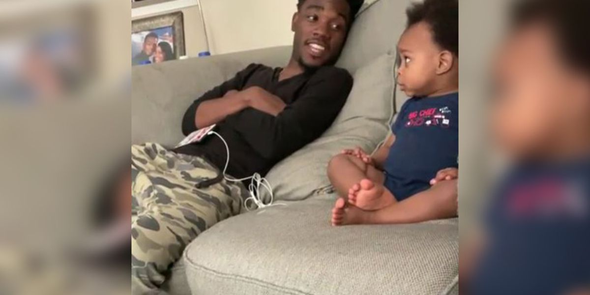 Petersburg native who went viral with son stars in Denny's commercial
