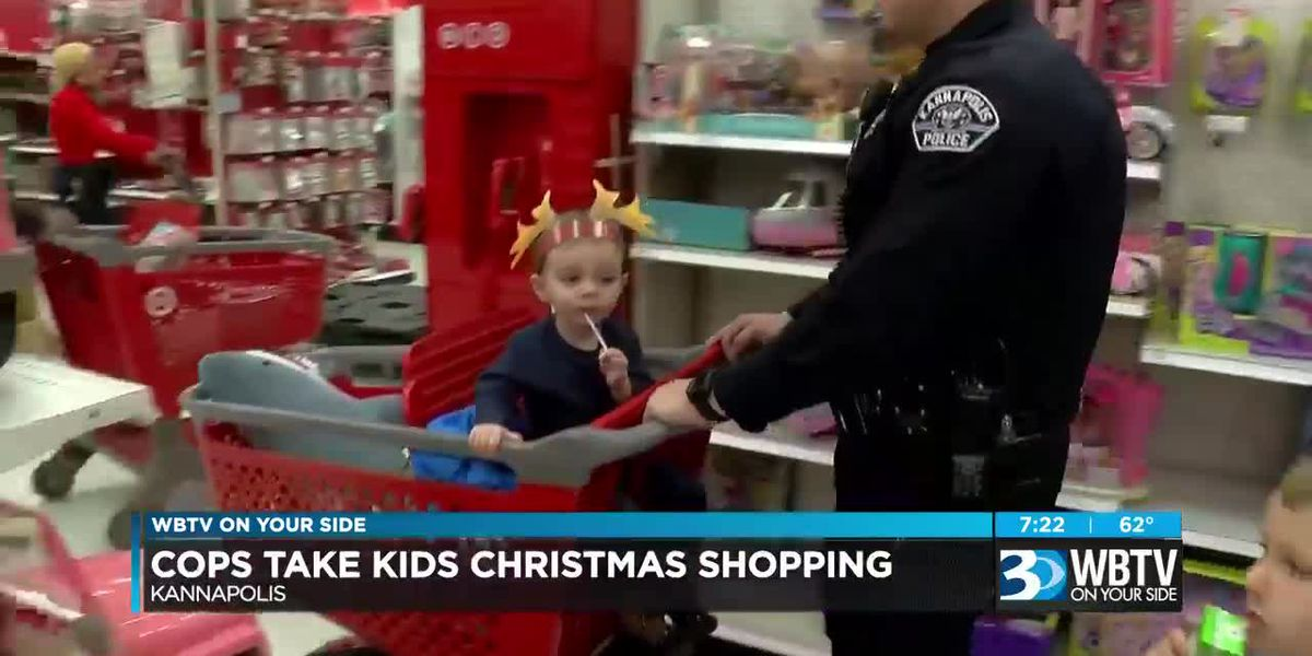 Blue lights, sirens, police, and lots of kids combine for fun at Target in Kannapolis