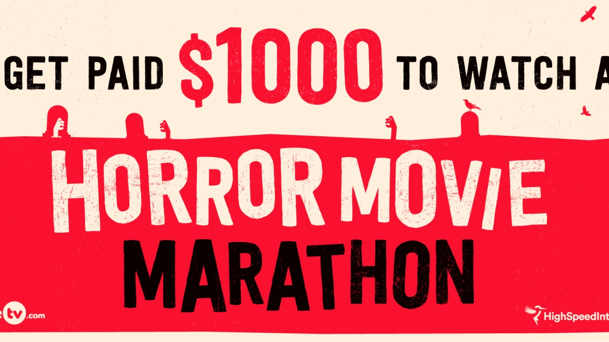 You can get paid $1,000 to watch hours of horror movies on Halloween night