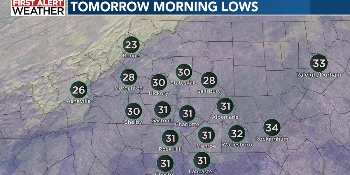 Chilly tonight! Below average highs tomorrow