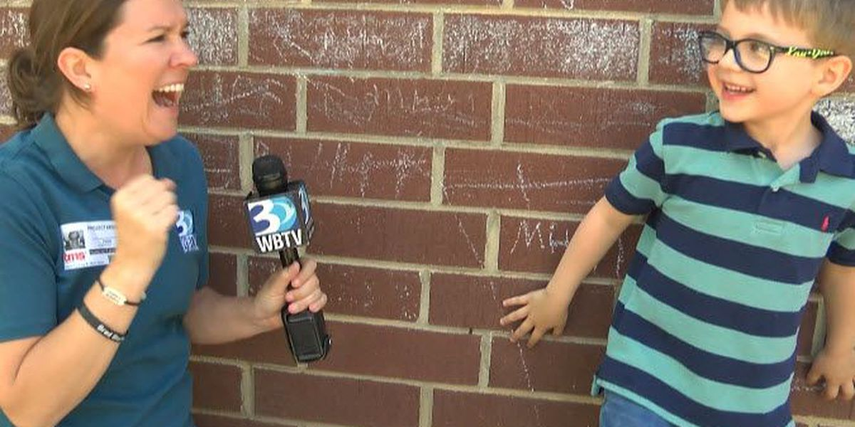 Kindergarten kids give their opinions on National High Five Day