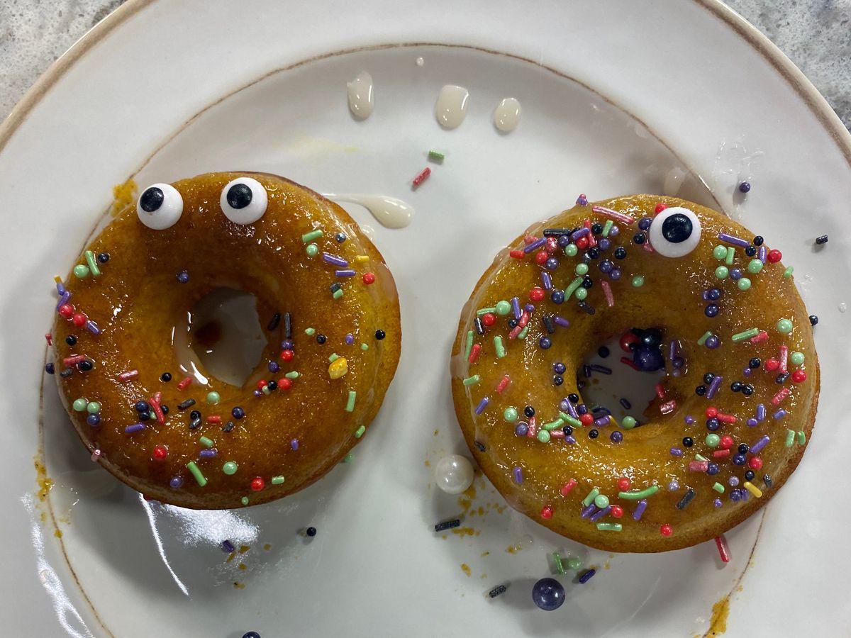 Decorating Pumpkin Donuts