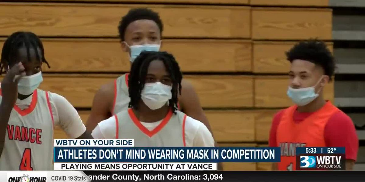 Vance student-athletes don't mind wearing masks to get back to competition