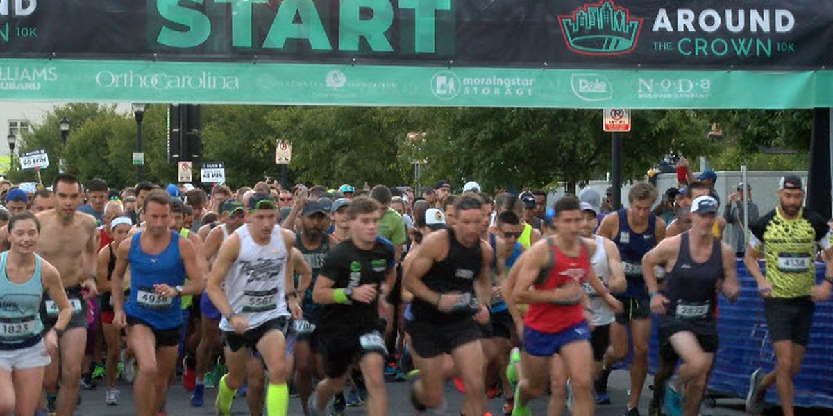 Nearly 5,000 runners hit I-277 for Charlotte's Around the Crown 10K