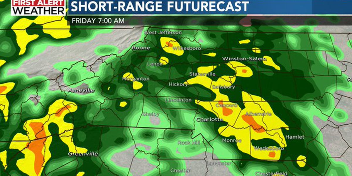 First Alert: Wet end to the workweek